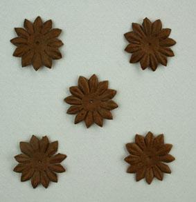 Green Tara - 2cm Gerbera - Dark Brown