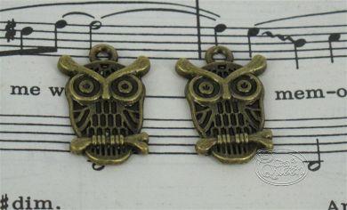 Bronze charm - Owl # 5