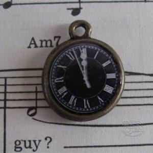 Clock Charm - Black