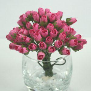 Green Tara - Paper Flowers - Mini Rose - Pink