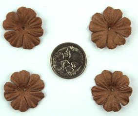 Green Tara -  2cm Petals - Dark Brown