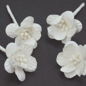 Green Tara -  Cherry Blossoms - White