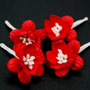 Green Tara -  Cherry Blossoms - Red