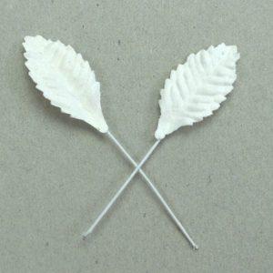 Green Tara  Leaves - White 2.5cm