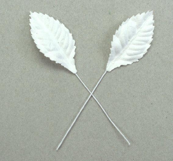 Green Tara  Leaves - White 3.5cm