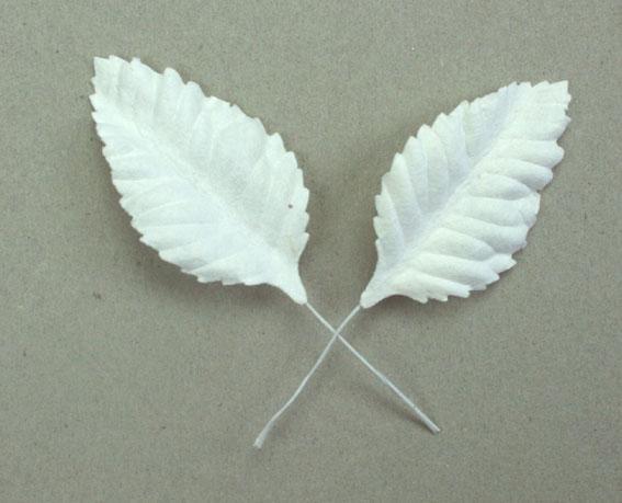 Green Tara  Leaves - White 5cm
