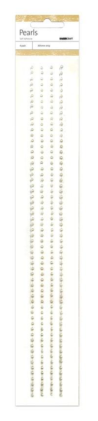 Kaisercraft -Pearl Strip - White