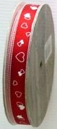Red/White Hearts 15mm