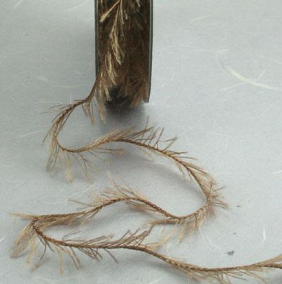 Fringe Ribbon - Brown