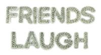 Kaisercraft Sparklet Words - Friends/Laugh
