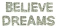 Kaisercraft Sparklet Words - Believe/Dreams
