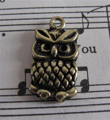Bronze charm - Owl # 2