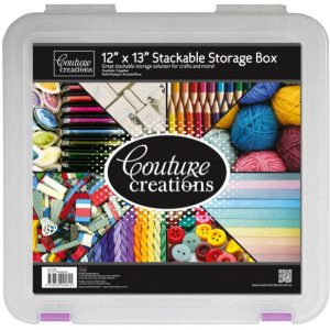 Couture Creations 12x13 Stackable Storage Box