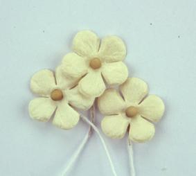 Green Tara - Mini Paper Flower - Cream/Brown
