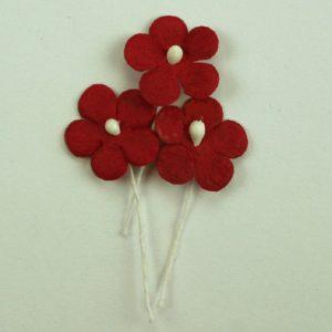 Green Tara - Mini Paper Flower - Red