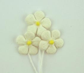 Green Tara - Mini Paper Flower - White