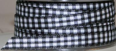 Gingham Black/White 10mm