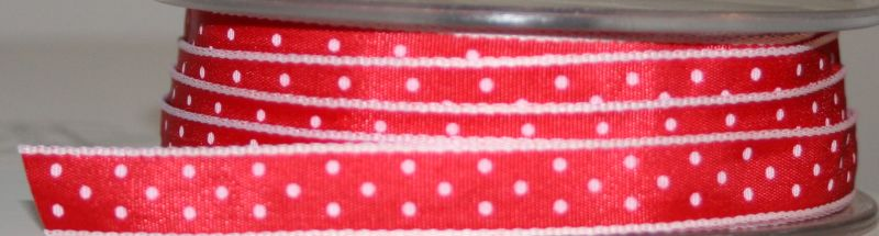 Ladybird Dots - Red/White10mm