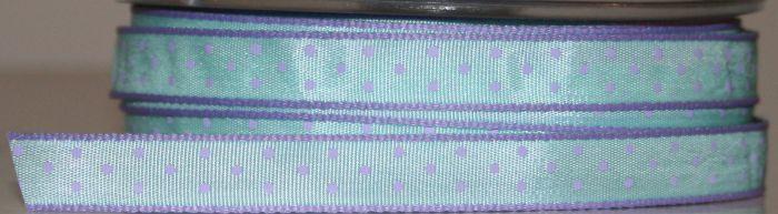 Ladybird Dots - Teal/Lavender 10mm