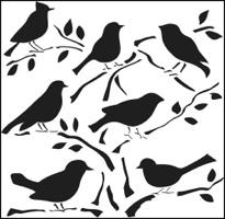 Crafters Workshop 6x6 - Mini Birds