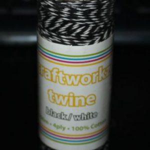 Craftworkz Twine - Black & White