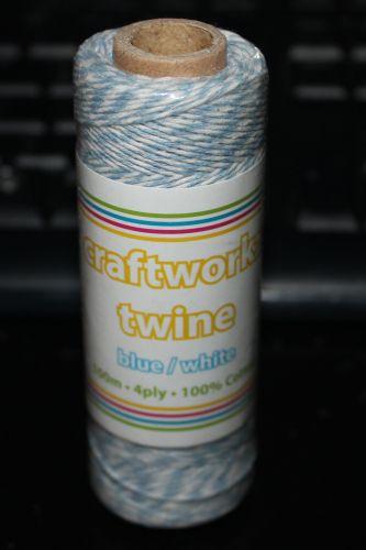 Craftworkz Twine - Blue & White
