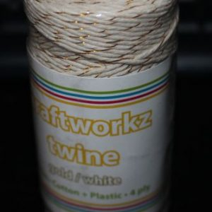Craftworkz Twine - Gold and White