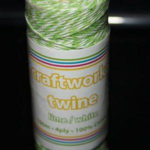 Craftworkz Twine - Green & White