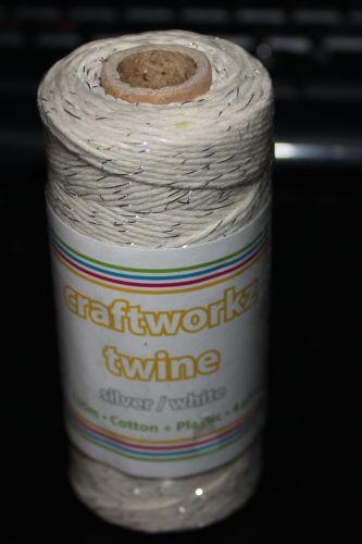 Craftworkz Twine - Silver & White