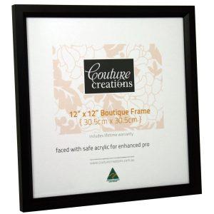 Boutique Frame - Soho Bevel - 12x12 Frame - Black