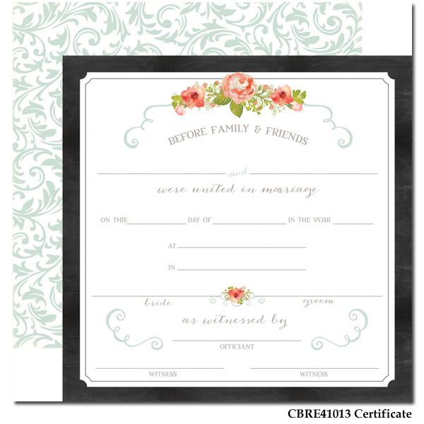 Rustic Elegance - Paper - Certificate
