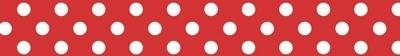 Kaisercraft Printed Tape - Polka Dot Red