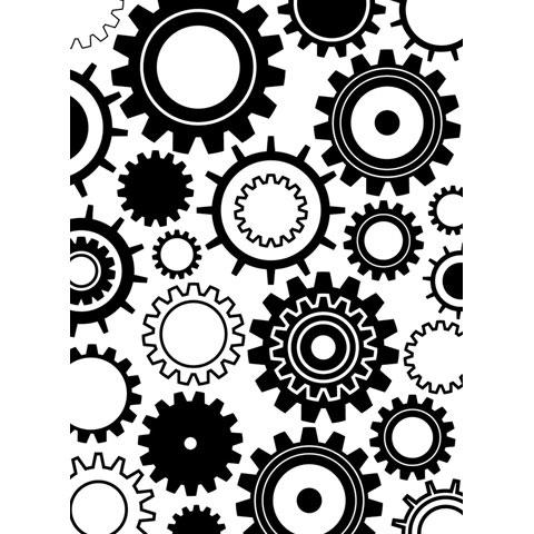 Darice Embossing Folder - Steam Gears