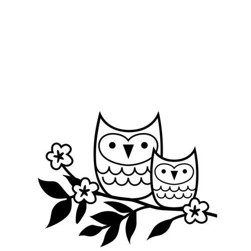 Darice Embossing Folder - Owls on a Twig