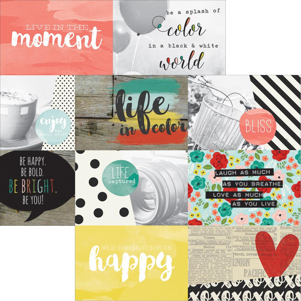 Simple Stories - Life in Color - 4x6 Horizontal Journal Elements
