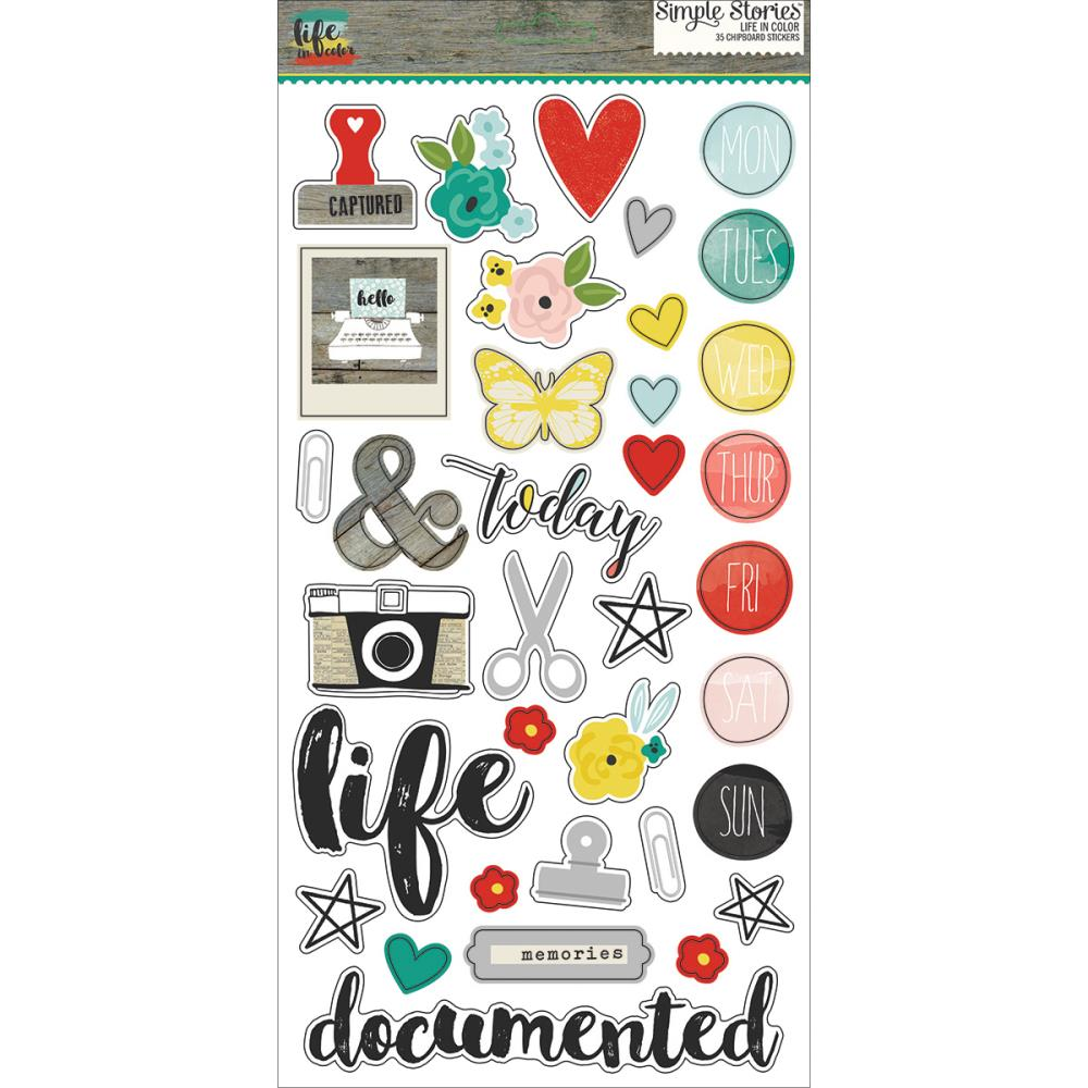 Simple Stories - Life in Color - Chip Stickers