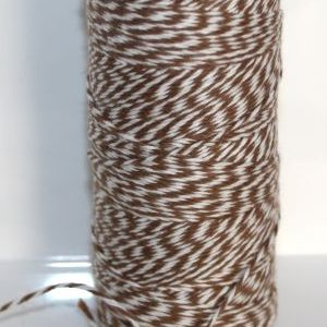 Bakers Twine -  Dk Brown and White