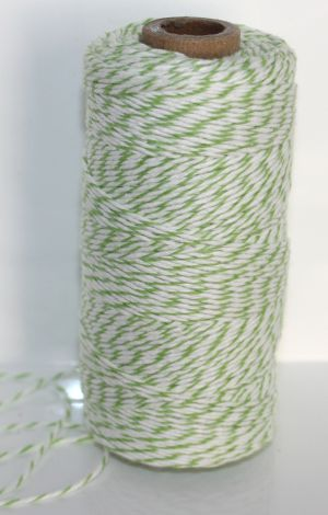 Bakers Twine - Light Green and White