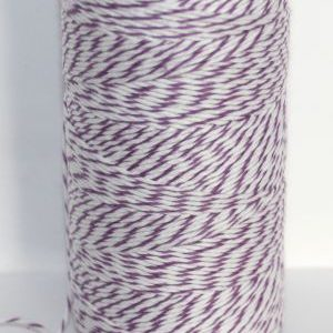 Bakers Twine - Lavender and White