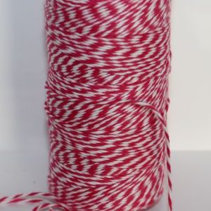 Bakers Twine - Hot Pink and White