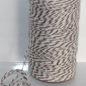 Bakers Twine - Coffee and White