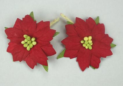Red Poinsettias 5cm
