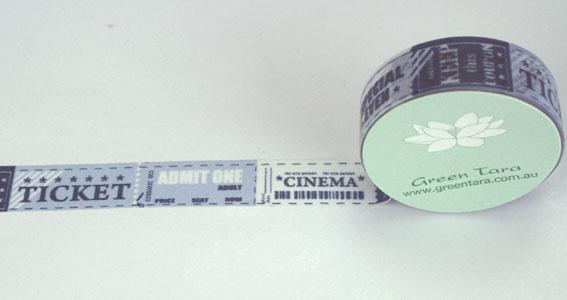 Green Tara - Washi Tape - Cinema Tickets