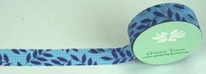 Green Tara - Washi Tape - Leaves on Blue