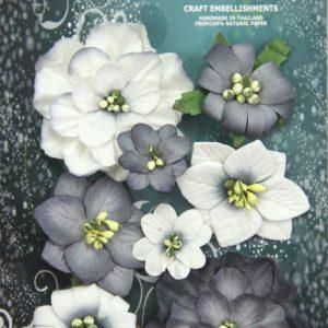 Green Tara - Fantasy Blooms - Black/White