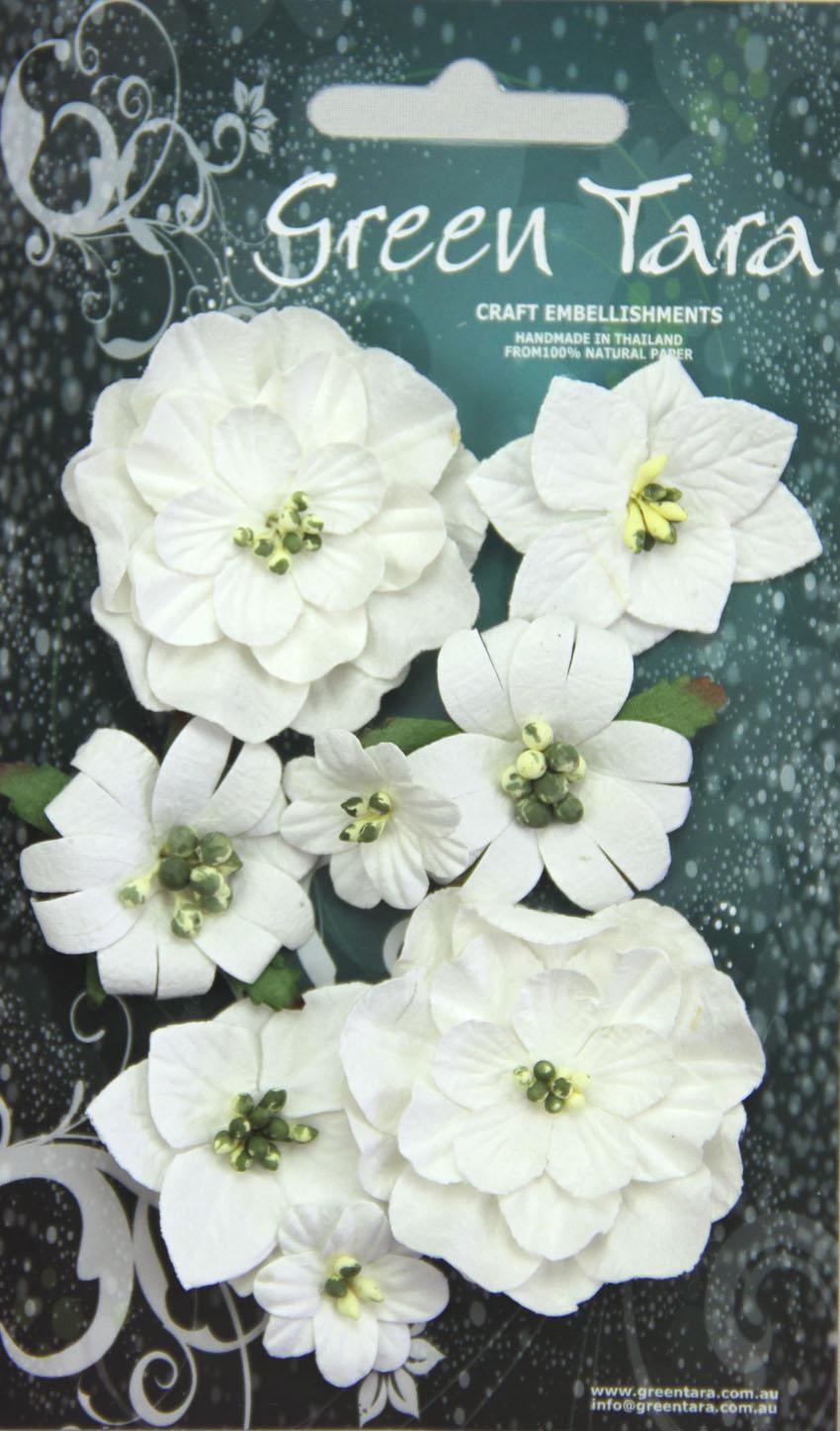 Green Tara - Fantasy Blooms - White