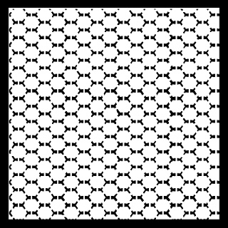 Memory Maze - Stencil - Inverse Chicken Wire 12x12
