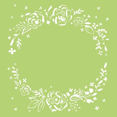Kaisercraft - 6X6 Template - Floral Wreath
