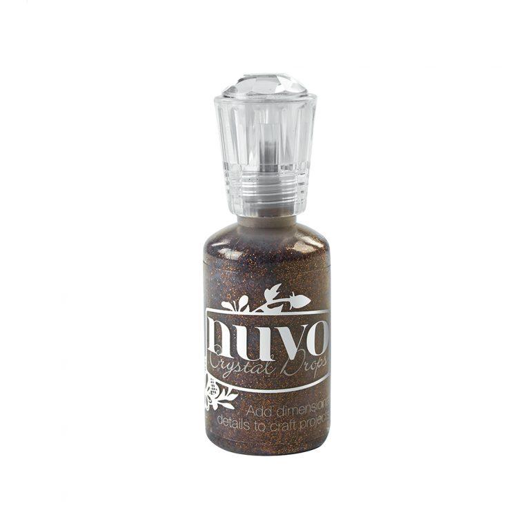 Nuvo Crystal  Drops - Glitter- Chocolate Fondue