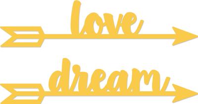 Kaisercraft Decorative Dies - Love - Dream Arrows